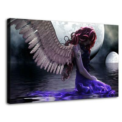"16""x26""Woman Angel HD Canvas prints Painting Home Decor Picture Room Wall art"