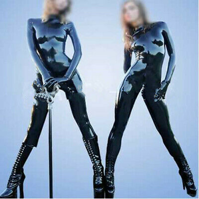 Latex Catsuit Rubber Schwarz Rennuniform Handmade Cool Gummi Custom With Gloves