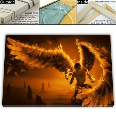 "16""x26""Angel Wings HD Canvas prints Framed Painting Home Decor Picture Wall art"