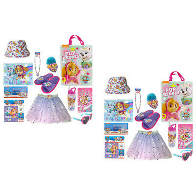 2PK Nickelodeon Kids Children Paw Patrol Skye Show Bag Sticker/Skirt/Necklace