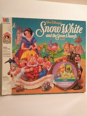 Disney Snow White & Seven Dwarfs 3-D Board Game 1992 Incomplete Read Below
