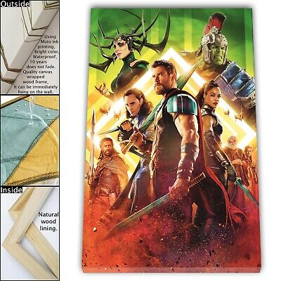 """16""""x24""""The Avengers Painting HD Print Framed Canvas Home room Decor Wall Art"""