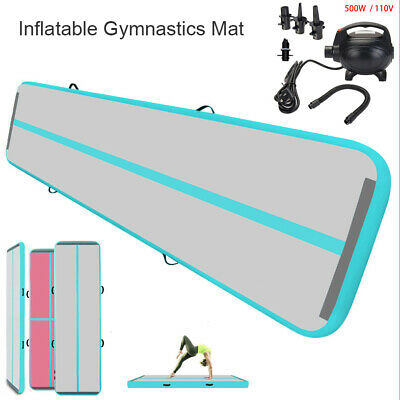 10/13/16/20FT Airtrack Inflatable Air Track Gymnastics Tumbling Mat GYM +Pump