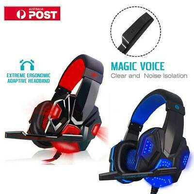 3.5mm Gaming Stereo Headset MIC LED Headphone Fr Xbox one/PC/PS4/Nintendo Switch