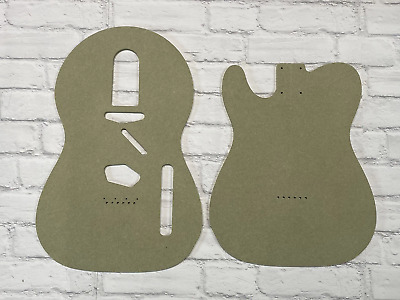 Guitar Template Body 2 piece Telecaster set cnc made 100% accurate templates .