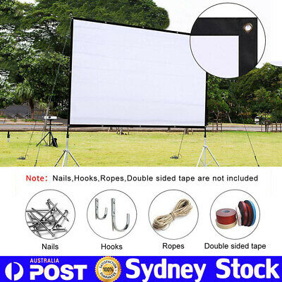 "120"" Portable 16:9/4:3 Projector Screen Home Theatre Cinema HD TV Projection 3D"