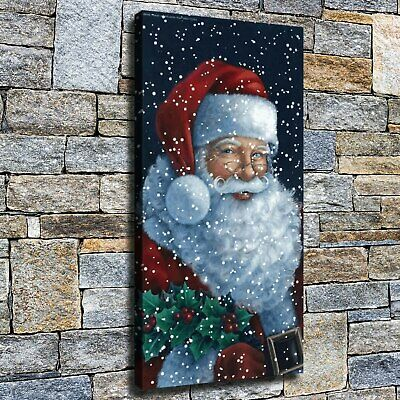 "12""x22""Father Christmas HD canvas home decor wall art paintings pictures photo"