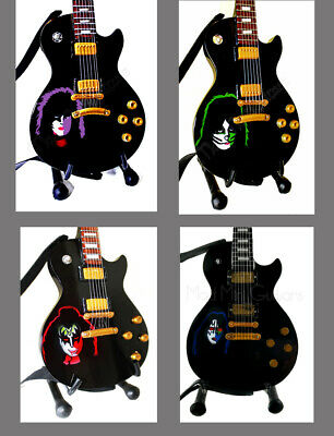 Miniature Guitars KISS 1978 Solo Album cover full set with stands & straps.