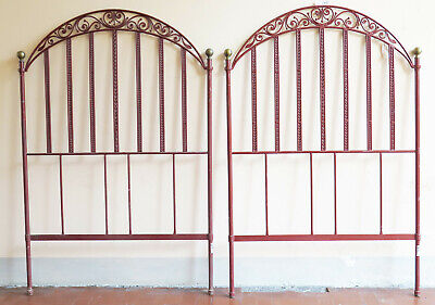 2 Headboards for Bed Single or Double Size Bed Header Bed Wrought Iron by hand 8