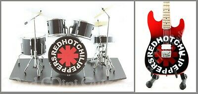 Miniature Drum Kit Set RED HOT CHILI PEPPERS + Stage + Mini Guitar