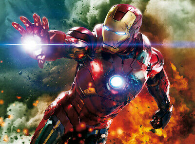 Avengers Ironman Iron Man Wall Art Wall Mural Self Adhesive Vinyl Wallpaper V1