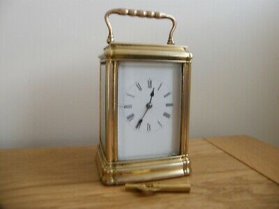 Large French 5 glass gong striking carriage clock good working order