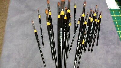 Daler  Rowney assorted size paint brushes x 20