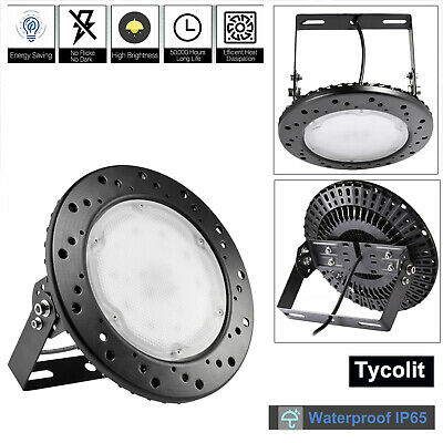 300W 200W 100W UFO LED High Bay Light Factory Warehouse Gym Market Lighting IP65