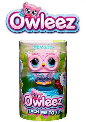 New Owleez Flying Baby Owl Interactive Toy With Lights & Sounds PINK