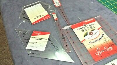 sew easy acrylic rulers / templates x 5