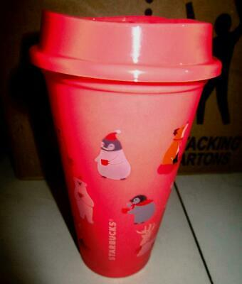 2019 STARBUCKS GRANDE CHRISTMAS PENGUIN BEAR REUSABLE HOT cup 16 oz Philippines