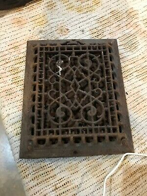 DD Antique Cast-Iron as found Heating grate working order 11 1/8 x 9 1/8p