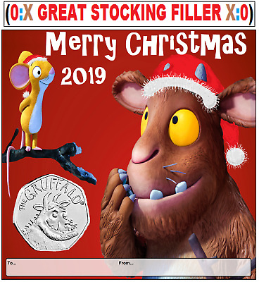 2019 Gruffalo Brilliant uncirculated 50p Christmas display card .ONLY A FEW