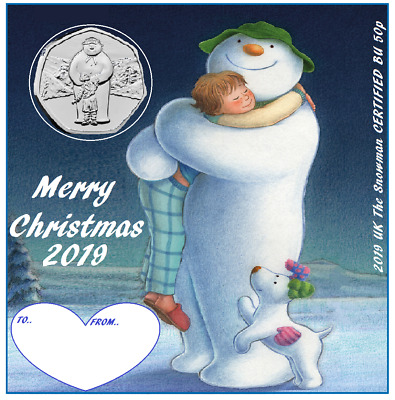 2019 UK The Snowman CERTIFIED BU 50p ( great Xmas gift ) only 4 available.