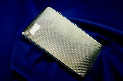 1931 Art Deco Solid Silver Cigarette Case By Frederick Field 212G 14Cm Long
