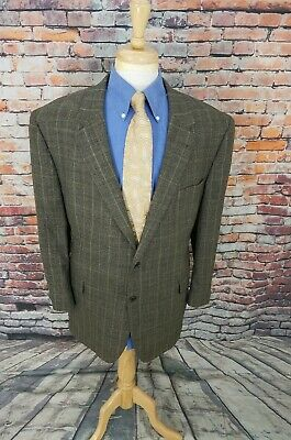 Jos A Bank Signature 48R Grey Plaid 2 Button WOOL Sport Coat Blazer Jacket EUC