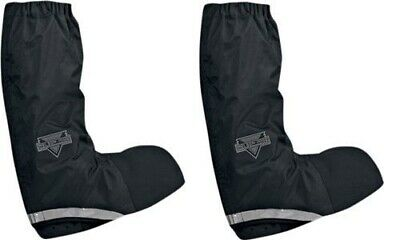 Nelson-Rigg Waterproof Rain Boot Covers Black Motorcycle Riding M, L, or XL