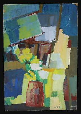 Gérard VIEILLEVIE (1939-1992) abstract painting abstract constructivism