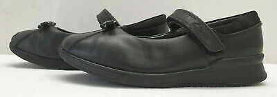 CLARKS GLOFORMS girls black leather school shoes Size UK 11.5G EU 29.5