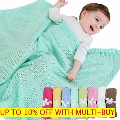 Soft Cotton Crochet Crib Infant Wrap Bed Supplies Baby Blankets Sleeping Sheet