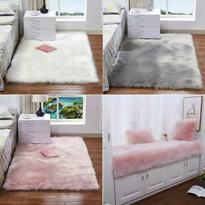 Washable Fluffy Rug Anti-Skid Shaggy Rugs Carpet Living Bed Room Floor Soft Mats