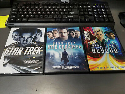 3 New Star Trek Movies Dvd's, Star Trek 2009, Into Darkness & Beyond