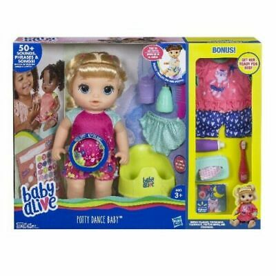 Baby Alive Potty Dance Blonde Hair Exclusive Value Pack Bonus English or Spanish