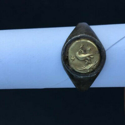 Roman Ancient Silver-Gold Ring- R0000