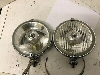 Pair Of Matching Vintage Lucas Fog / Spot Lights Working.models Lr10 & Ft10.Vgc