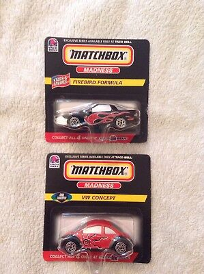 Taco Bell 1998 Exclusive Series Matchbox Madness VW Concept & Firebird Formula