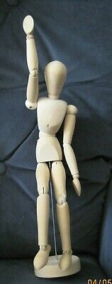 """Articulated 12 3/4"""" Artists Mannequin Jointed Wood Figure Unisex Adult"""