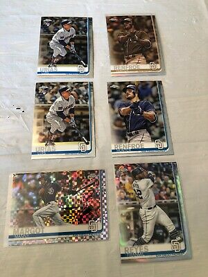 2019 Topps Chrome Baseball San Diego Padres Lot Of 6 Rookie Refractor Sepia