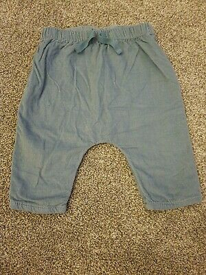 Next Baby boy Blue Cord Trousers Size 3-6 Months