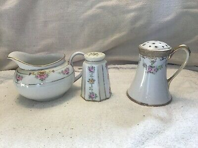 Lot of 3 Nippon Porcelains Creamer & Two Shakers