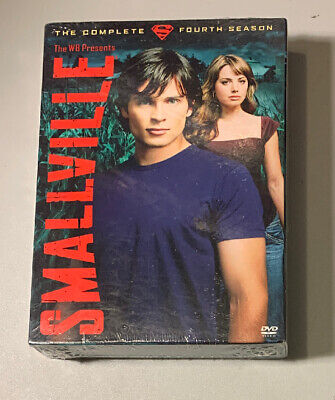 Smallville - The Complete Fourth Season (DVD, 2005, 6-Disc Set) NEW
