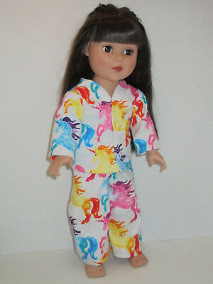 """Colorful Unicorn Pajamas for 18"""" Doll Clothes American Girl"""