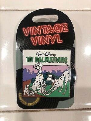 Disney Pin of the Month Vintage Vinyl 101 Dalmations Pin LE 3000 New In Hand