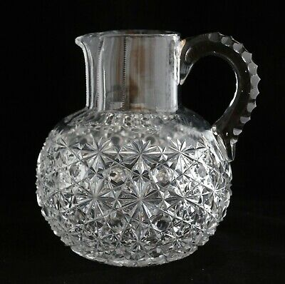 Antique American Brilliant Cut Glass Crystal Abp Dorflinger Russian Jug Pitcher