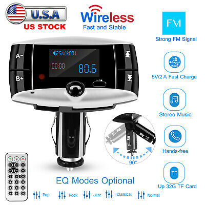 Wireless Car FM Transmitter USB Charger Hands-free Call MP3 Radio Adapter Kit
