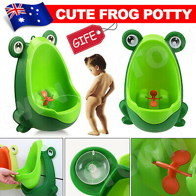 Kid Baby Potty Toilet Training Frog Shaped Urinal Boys Pee Trainer Bathroom