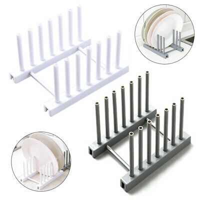 Plastic Kitchen Plate Cup Rack Pot Lid Holder Drying Storage Stand Organizer