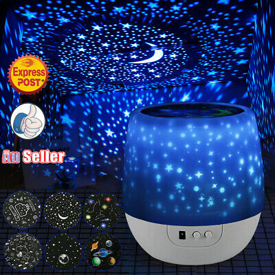 LED USB Night Star Sky Projector Light Lamp Starry Baby Room Kids Chrismas Gift