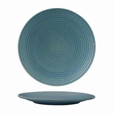 6x Coupe Plate Ribbed Zuma 'Denim' 265mm Commercial Crockery Restaurant Cafe