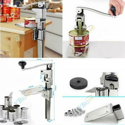 Commercial Can Opener Restaurant Kitchen Bench Table Manual Food Tin Open Tool